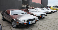 Great Scott! (Schwanzus_Longus) Tags: bremen delorean de lorean dmc12 coupe coup us usa america american car vehicle old classic vintage stainless 12 brown capacitor dmc doc doors engine flux future german germany gullwing marty metallic silver sports steel fahrzeug auto outdoor