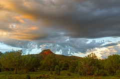 DSC_0074-76 red butte monsoon hdr 850 (guine) Tags: clouds monsoon trees plants grass sunset coconinoplateau hdr qtpfsgui luminance