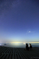Perseids (tomosang R32m) Tags: yakei night twilight blue  canon eos 6d hiyama sunset sky fukuoka itoshima hiking silhouette japan         friend beach beachline        star meteor    perseids