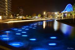 Raadhuisplein, Emmen (Rene Mensen) Tags: rene mensen emmen raadhuisplein centrum night light long exposure blue atlas theather thenetherlands