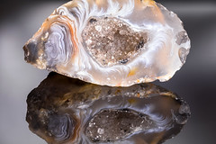 "Polished Edge - Small 1"" Crystal Geode Macro, with reflection - Explored 18 October 2016 (aronalison) Tags: crystal georgemacro geode macro edge macromondays"