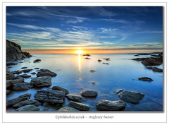 Anglesey Sunset (Phil Durkin) Tags: 2016 anglesey sea september sunset wales daytime incommingtide rocks shoreline summer tide water