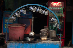 Start Of The Morning (mdallrabbi) Tags: outdoor teacup waiting forcustomers pattern tea stall mini city bangladesh canon 600d