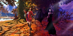 FabFree Photo Challenge - {Fall Personas} (Sparkles Against Her Shadows) Tags: secondlife fabfree photochallenge autumn fall gifts freebies fashion moody halloween costume happy spooky sexy women 7deadlyskins photography passion love