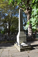 DSC_5446 Bunhill Fields Dissidents Cemetery City Road London Daniel Defoe  an English trader, writer, journalist, pamphleteer, and spy, most famous for his novel Robinson Crusoe. (photographer695) Tags: bunhill fields dissidents cemetery city road london daniel defoe an english trader writer journalist pamphleteer spy most famous for his novel robinson crusoe
