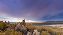 Tufa Towers at the Mono Lake (Jaideep Mann) Tags: mono lake county tufa towers eastern sierra lee vining highway 395 tioga pass clouds sky rock formations grass sunset evening water outdoor landscape field cloud south