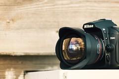 20151026171522 (d10n) Tags: toronto canada trip skyline reflected reflection lens fisheye nikond90