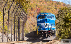 NS 83E Elkhorn 4001 (HeritageNY) Tags: ns 4001 train pokey fall pusher ac44c6m