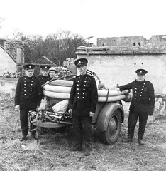 National & Auxiliary Fire Service (Dundee City Archives) Tags: world old 2 two water fire war uniform photos dundee angus pump national ii area ww2 second service firemen trailer coventry fighting firefighters afs brigade climax tunic auxiliary