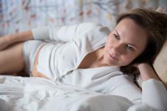 Saturday lie-in (Barry_Madden) Tags: portrait woman sweater bed shorthair youngwoman lyingdown brownhair finnishwoman portraitproject2014 sannav