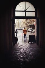 Neubau passage (Michal) Tags: vienna wien street man wet passage damp