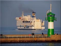 """Das  Fhrschiff """"Huckleberry  Finn"""" auf  dem Weg von  Travemnde nach Trelleborg (Ostseetroll) Tags: ferry geotagged deutschland olympus balticsea lbeck ostsee deu schleswigholstein huckleberryfinn em10 fhrschiff geo:lat=5396058277 geo:lon=1088647430 lbeckhansestadt"""