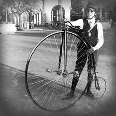 The first machine to be called a bicycle (Dom de Paris) Tags: california usa bicycle vintage sandiego machine somewhere pennyfarthing balboapark highwheeler