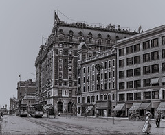 The Astor Hotel & Theatre, Times Square - 1900 (Are Oh Why) Tags: timessquare timessq astorhotel astortheatre