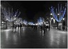 Happy New Year ! / Alles Gute im Neuen Jahr ! (kurtwolf303) Tags: barcelona street new trees people topf25 night lights spain topf50 nikon 500v20f nacht year illumination newyear coolpix ck bäume neujahr spanien beleuchtung ramblas happynewyear personen compactcamera colorkey strase urbanlifeinmetropolis 750views espańa 250v10f neujahrswünsche unlimitedphotos s8200 minimum500v minimum700v