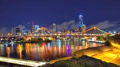 STORY BRIDGE 01.01.2015 (16th man) Tags: bridge canon eos australia brisbane qld queensland lighttrails citycat storybridge newfarm meriton wilsonsoutlook eos5dmkiii