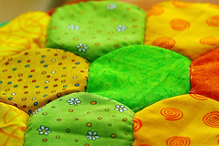 Colourful (crafty1tutu (Ann)) Tags: project quilt handmade fabric cotton hexagon colourful patchwork anncameron sewnbyhand ilovemypics canon7d qualitypixels gettycontributor crafty1tutu canon180mm35lseriesmacrolens