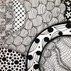 #zentangle 2015-005, this tile is diagonal to yesterday's in the larger mosaic. I did reference the neighboring tiles to figure out circle sections from background sections. (kurki15) Tags: square squareformat zia zentangle zendoodle iphoneography instagramapp uploaded:by=instagram zentangleinspiredart 2015zentangleaday 2015zenjan