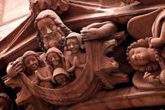 In sinu Abrahae (Nick in exsilio) Tags: sculpture souls smiling happy switzerland heaven cathedral gothic basel bliss minster münster blessed beatitude