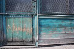 Faade cladon (Anne-Christelle) Tags: door wood blue green shop vert peinture bleu boutique porte grille faade bois forgeroyale 75011paris cldaon