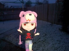 JJ: Yay, snow, great, whatever. 3/52 (Bebopgirl1969) Tags: snow gloomybear blythe punkaholicpeople
