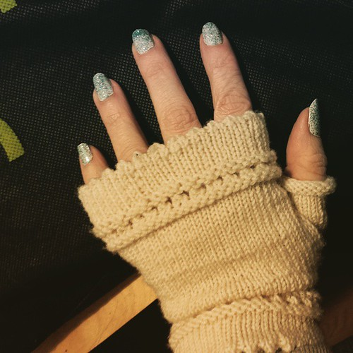 My aunt #knitted these #gloves for me. #cute #knitting #knitt #diy #crafting #craft