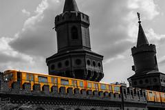 Color-Key U-Bahn (Jonas Apelt) Tags: berlin kreuzberg ubahn friedrichshain oberbaumbrcke bvg colourkey