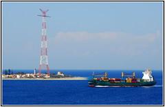 Strait of Messina, Italy (petrk747) Tags: voyage cruise blue sea sky italy travelling water heaven ship sicily calabria strait messina tyrrheniansea puntadelfaro