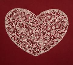 Gel pen heart - detail (Rachael Ashe) Tags: heart handmade drawing geometry drawings valentine doodle doodles draw etsy