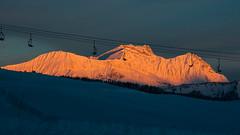 Reveil (Olivier Dégun) Tags: ski station les alpes canon eos soleil is ngc 15 neige usm savoie 85 lever mécanique saisies télésiège remontée rhonesalpes 700d