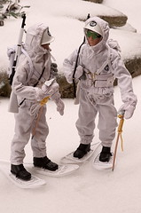 US ARMY Mountain Troops (Polish Madman) Tags: bear mountain snow man ski yard gijoe toy 40th soldier army back backyard shoes doll action anniversary joe collection 10th division 50th snowshoes troops patrol gi hasbro actionman palitoy