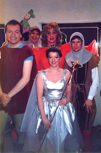 1987 Sleeping Beauty 06 (from left Roy Ritchie, Ian Booth, Ken Fielding, Denise Boyes, Mark Hampton)