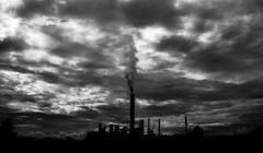 Hard to breathe (vinicius.vieira89) Tags: brazil sky blackandwhite bw cloud art clouds canon photo pb pollution photograpy