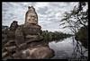 Un asura en el camino (Montse Estaca) Tags: sky water clouds landscape agua cambodia paisaje cielo nubes demon siemreap hinduism acqua estatua statua demonio angkortemples camboya asura hinduismo nubole churningoftheoceanofmilk samudramanthan batidodeoceanodeleche