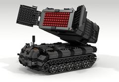 """Widow"" Mobile Launch Missile Platform (Lee_Barton87) Tags: lego military widow ldd missilelauncher heavytank internalview legotank"