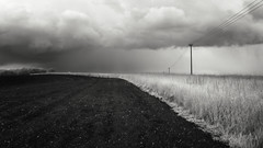 Spring Storm (Russ Barnes Photography) Tags: blackandwhite storm rain mono spring nikon monochromatic infrared oxfordshire tiltshift d7000 nikkor24mmpce 665nm russbarnes