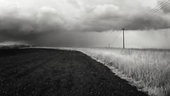 Spring Storm (Russ Barnes Photography) Tags: blackandwhite storm rain mono spring nikon monochromatic infrared oxfordshire tiltshift d7000 nikkor24mmpce 665nm russbarnes