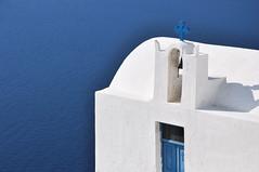white on blue (marin.tomic) Tags: travel blue summer vacation white holiday church greek nikon europe mediterranean aegean santorini greece caldera summertime griechenland santorin cyclades thira d90 kykladen