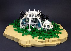 Symbiote City (A Plastic Infinity) Tags: city desert lego spiders satire silk future scifi lichen gmo arachnophobia awesomeness aclassiccaseofastorytakingmoretimethantheactualbuild