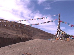 prayer flags along the route