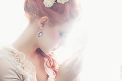 Mystical Baroque (ravenajuly) Tags: flowers red portrait woman sexy art girl beauty fashion vintage hair design photo model nikon soft dress princess fairy baroque tender yuuyuu ravenajuly