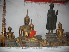 Buddha Statues in Luang Prabang Temple