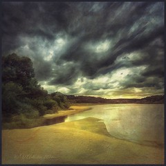 Storm clouds on the river Oka. (Tarusa) (odinvadim) Tags: mytravelgram iphoneart forest sunset iphone iphoneography iphoneonly rain evening snapseed river textures travel landscape
