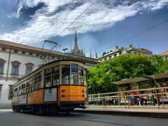 Milan, trame et Duomo (romain.cacace) Tags: moderne composition sky ciel mobile iphone nf nofilter arty photography photographe tramways tram duomodimilano duomo milano milan