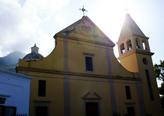 stromboli (isabellerosenberg) Tags: italy building church island sunny sicily stromboli vincenzo