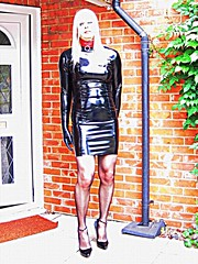 PVCPatsy PatsyPVC Fetish Tight Shiny PVC Dress Outdoors (PVCPATSY TV) Tags: pvc latex fetish tight dress shiny outdoors transvestite shinystockings 6inchhighheels pvcfetishdress