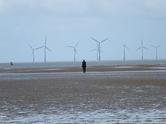 DSCF0723 (SierPinskiA) Tags: sea shells beach liverpool sand ironman pools barnacles ironwork mayday seashore merseyside anthonygormley irishsea 2016 anotherplace crosbybeach blundellsands fujixs1