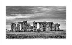 Ring of Stones (andyrousephotography) Tags: bw monument canon dark eos blackwhite moody stones worldheritagesite stonehenge 5d ancestors 1986 wiltshire prehistoric neolithic amesbury mkiii wondersoftheworld