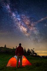 Milky Way selfie from Grassy Ridge, North Carolina [Explored] (jason_frye) Tags: camping night northcarolina tent blueridgemountains milkyway selfie grassyridge visitnc