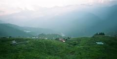 (greenlapwing) Tags: 612 cambowide650 fujifilm160nsjapanensisversion schneidersuperangulon65mmf56 afternoon contrast farm landscape mountain sunset  idea